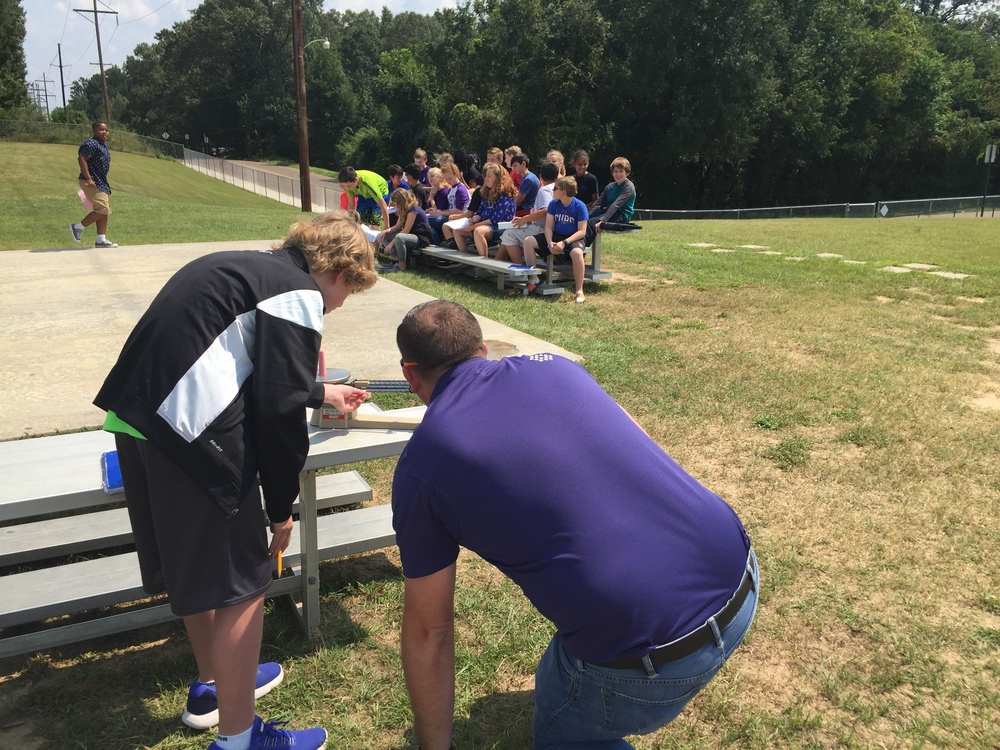 Mr. Thompson's Classes Measure Chalk and Record Data