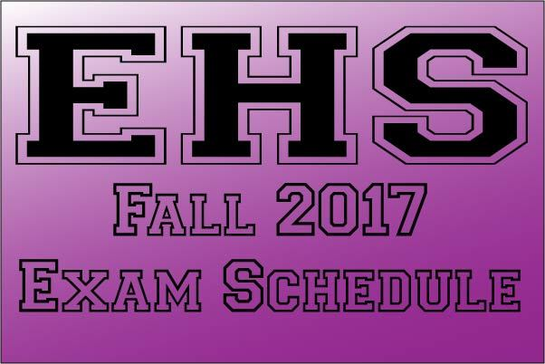 EHS Fall 2017 Exam Information