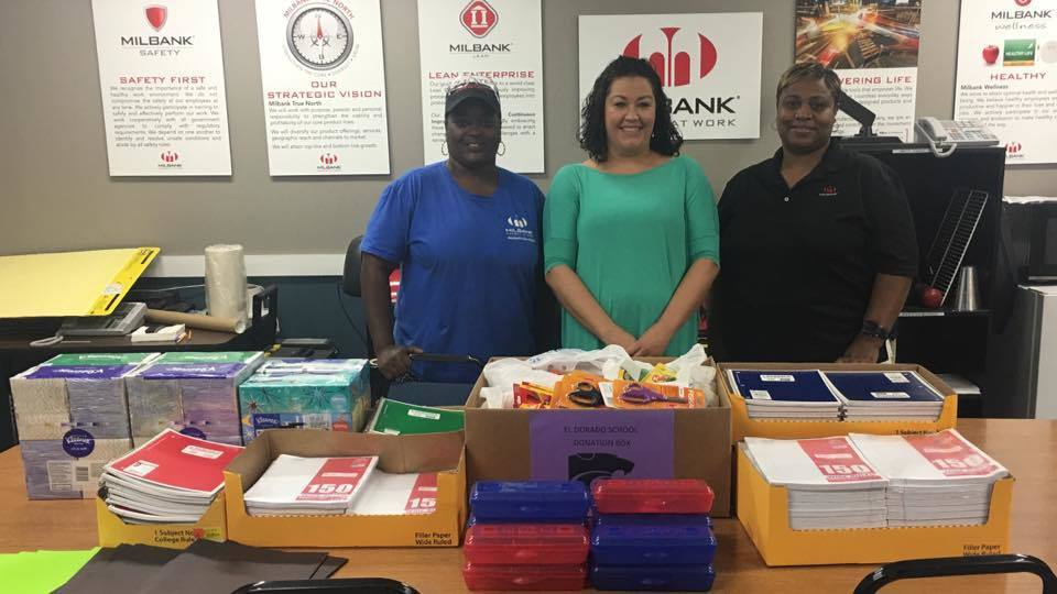 Milbank Donates School Supplies