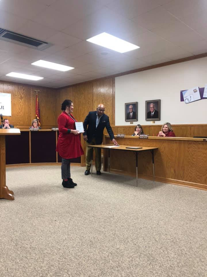 Mrs. Passmore Recieves Board Recognition