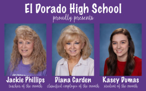 EHS Announces Teacher, Classified Employee, and Student of the Month