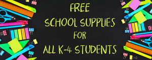 FREE School Supplies for ALL K-4 Students