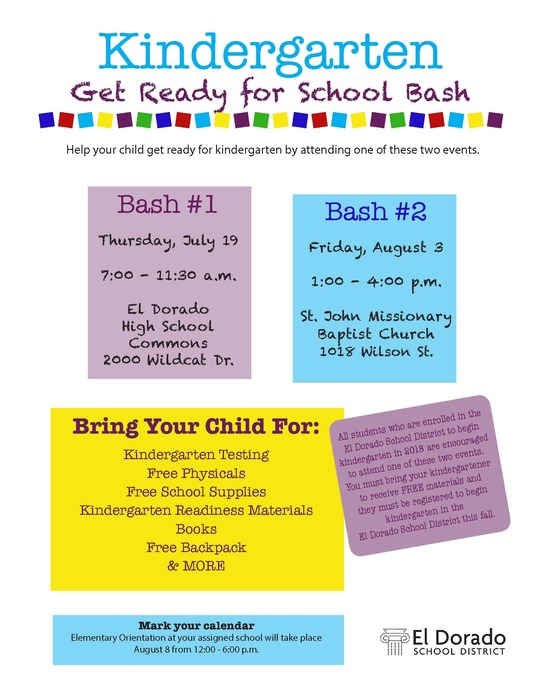 Kindergarten Bash Flyer
