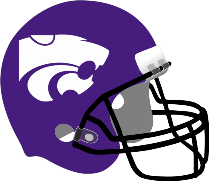 purple football helmet with powercat logo
