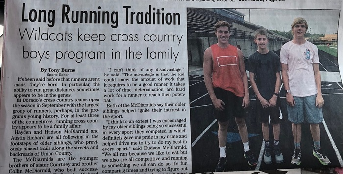 cross country newspaper article