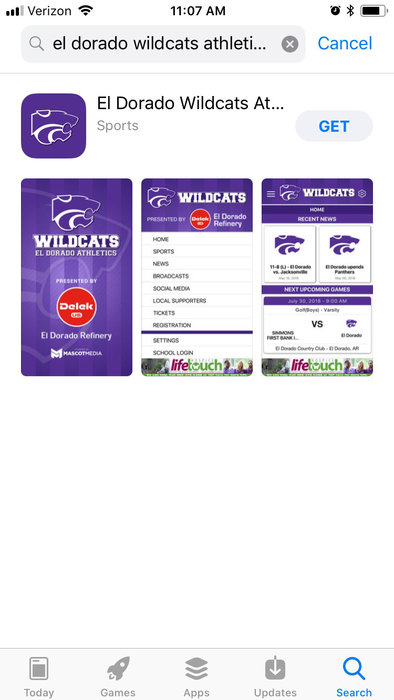 Wildcat sports app