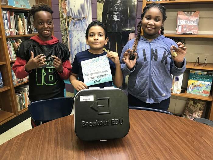 Breakout EDU in the library