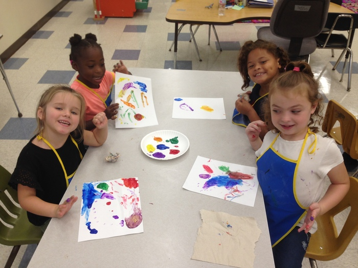 Finger painting fun!