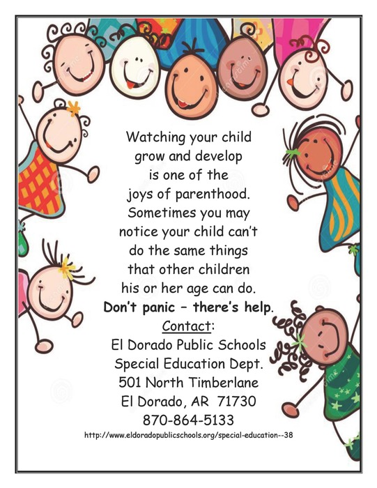 Special Education Child Find Ad
