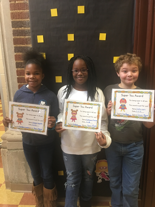 Super Students of the month!!