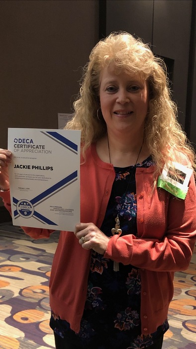 DECA Advisor Jackie Phillips