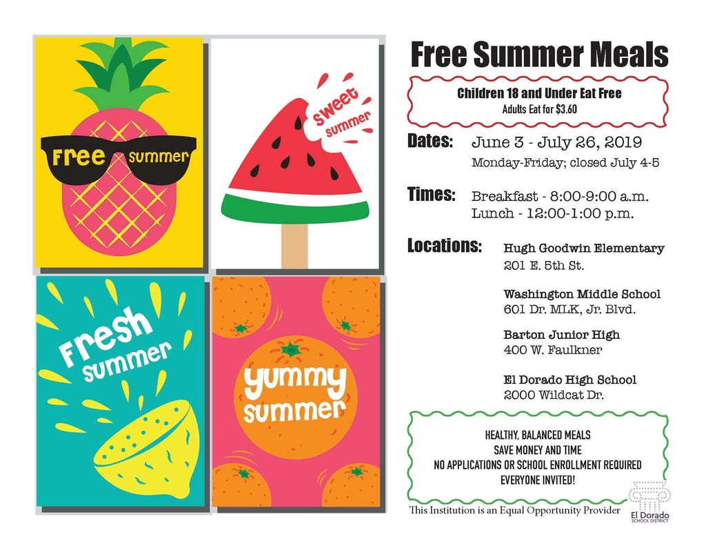 Summer Meal Program: free to those 18 and under