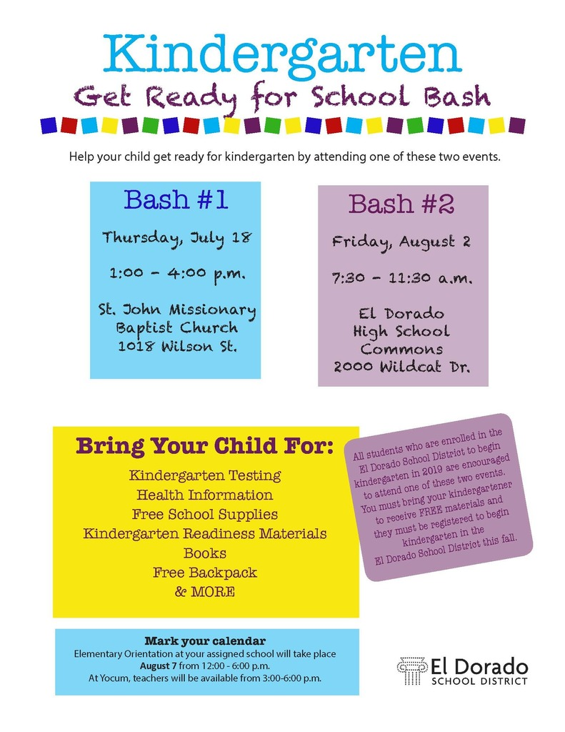 Kindergarten Bash information