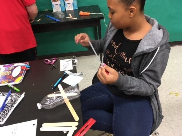 Today at WMS students were building balloon powered boats with a budget to purchase materials!