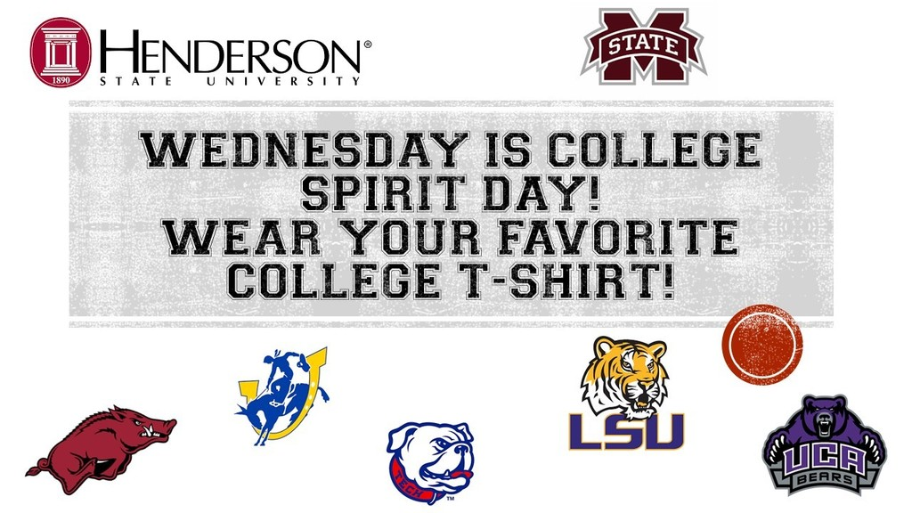 College t-shirt day!
