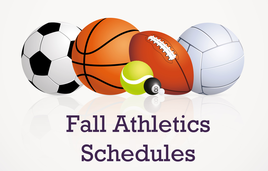 Fall Athletics schedules