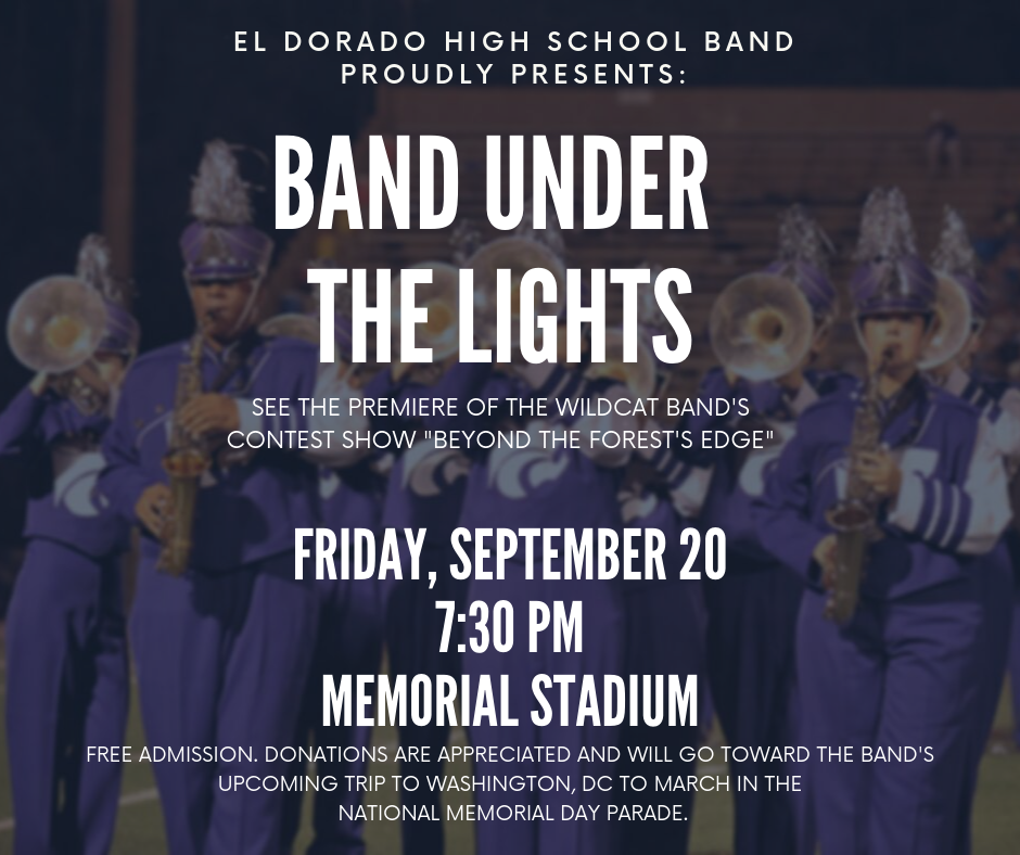 Band Under the Lights 7:30 @ Memorial Stadium