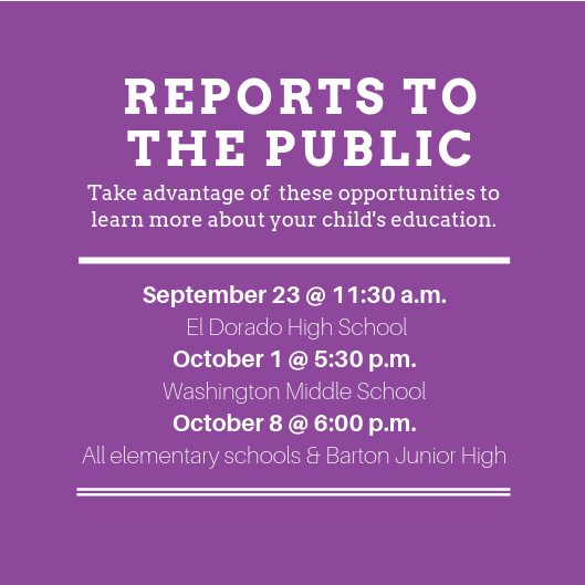 Report to the Public dates and times