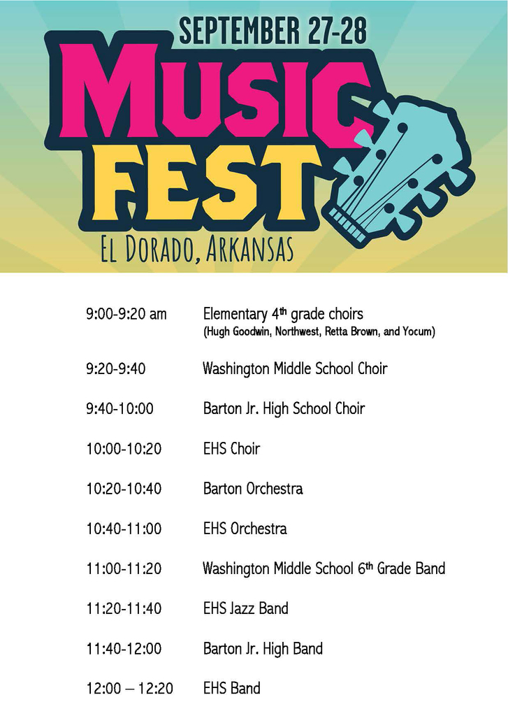 MusicFest performance schedule
