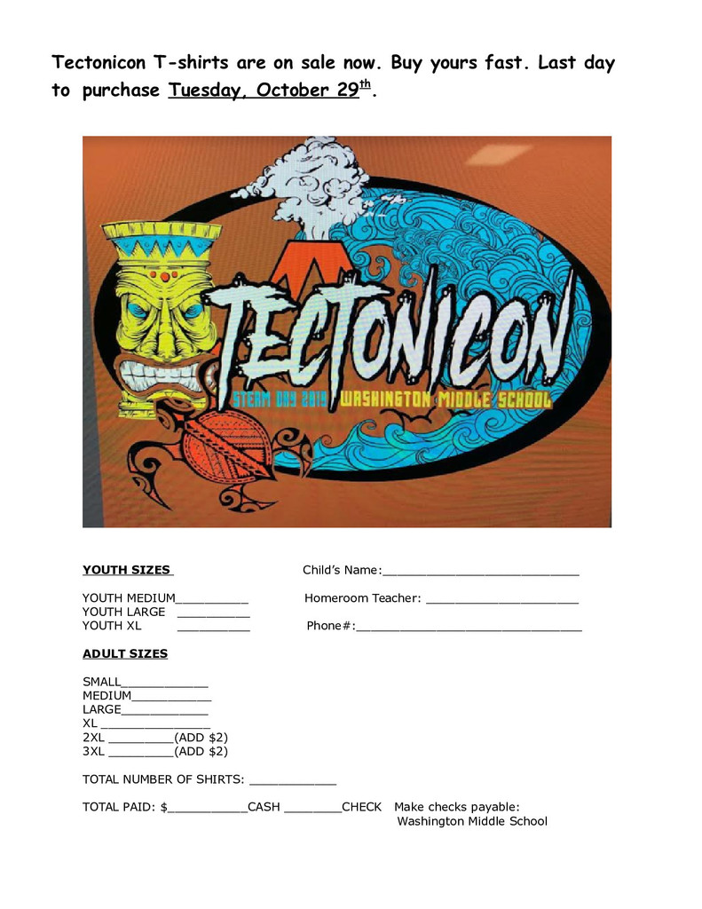 Order your Tectonicon shirt today!