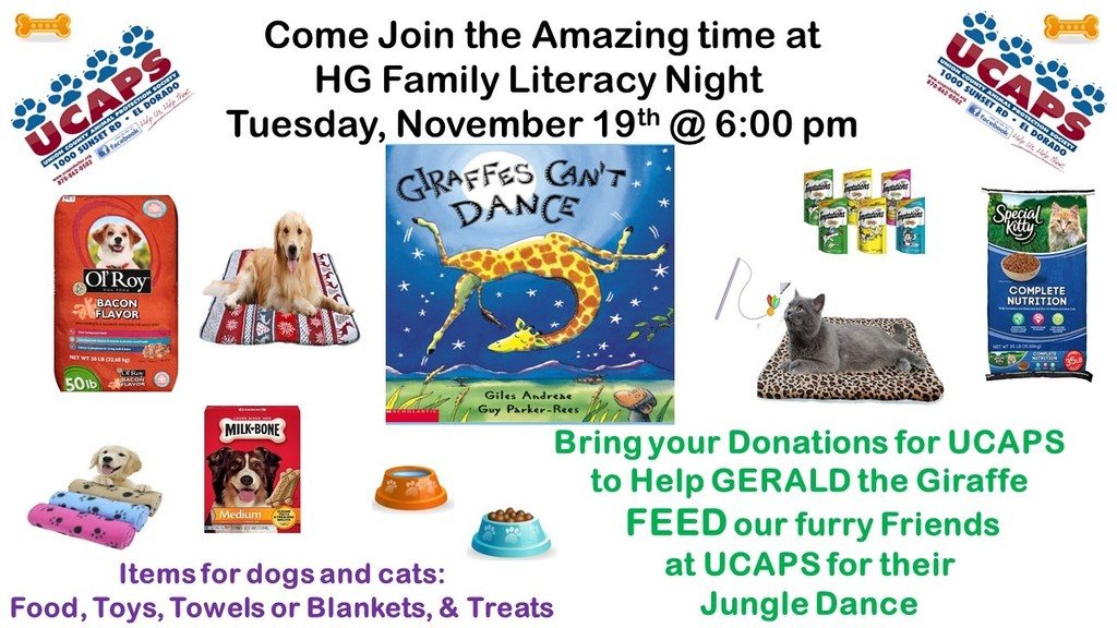 Literacy NIght & UCAPS Donations