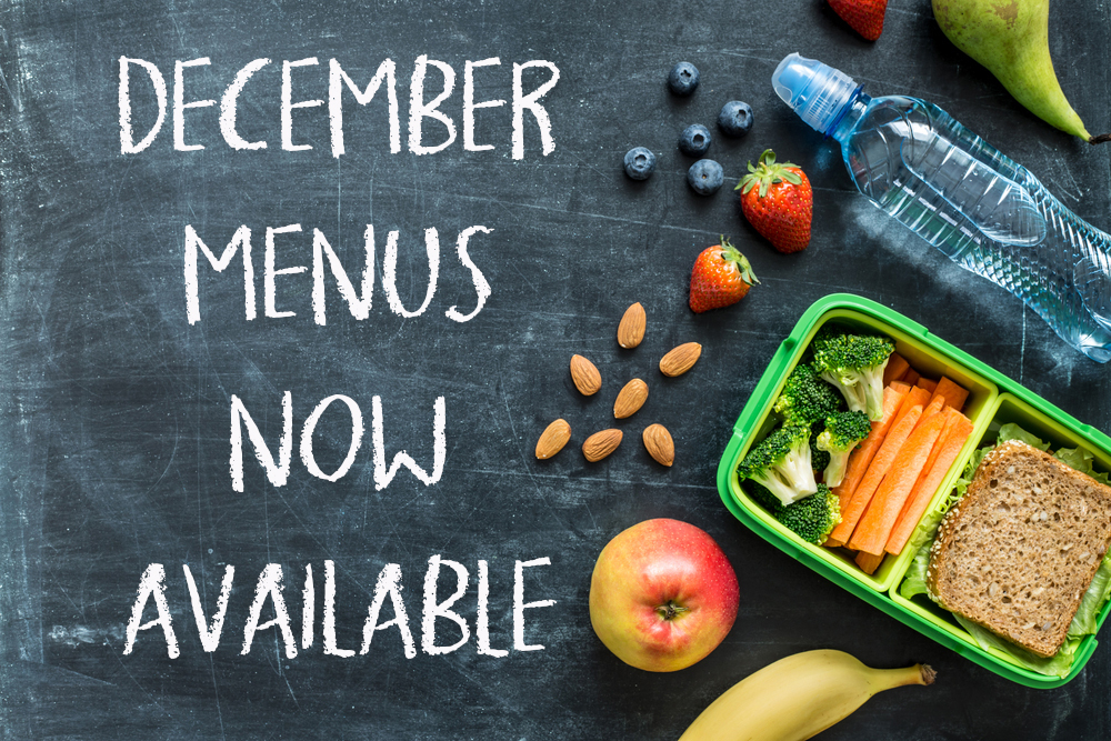 December Menus now available