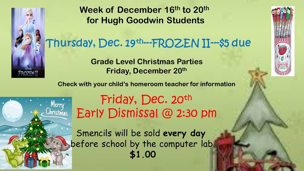 Christmas Week Information