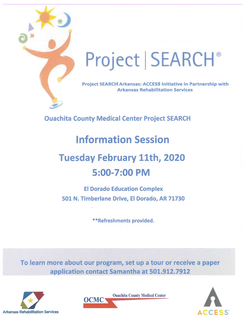 Project SEARCH meeting 2/11 @ 5:00 pm OCMC