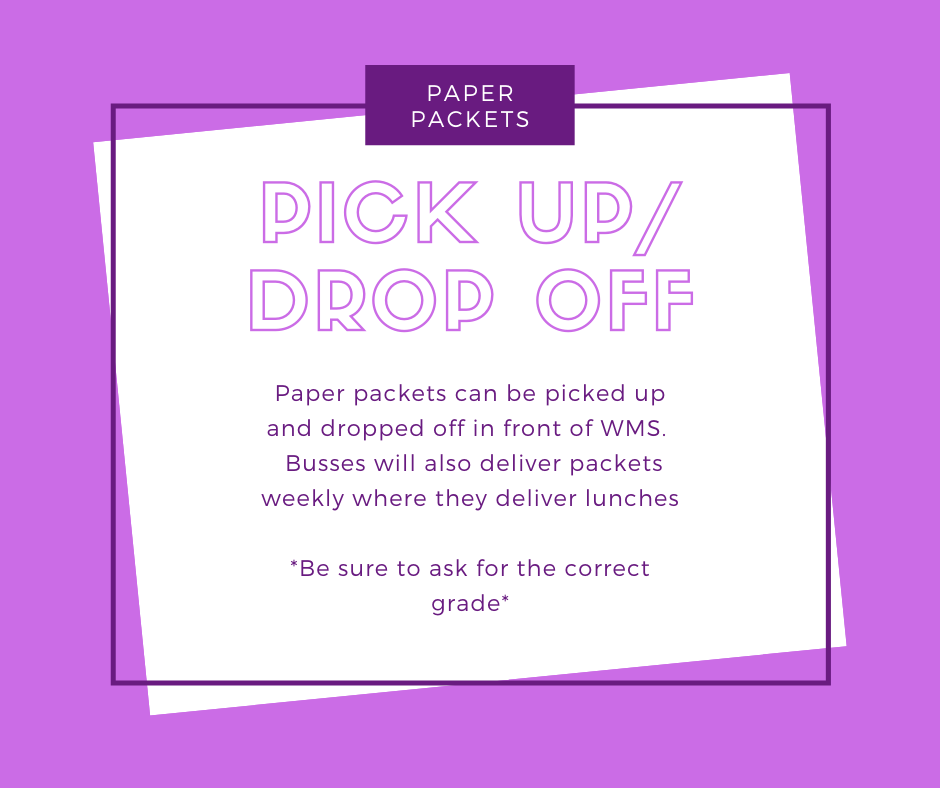Paper Packet pick up and drop off