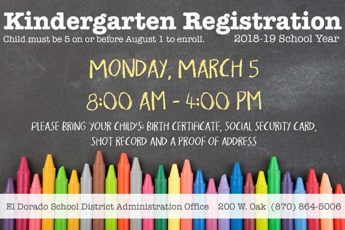 K Registration Monday, March 5 8am-4pm