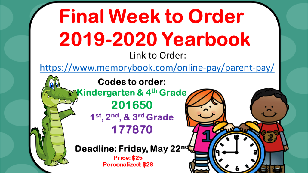 Final Week for Yearbook