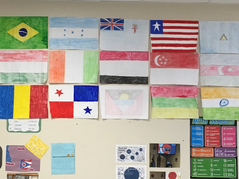 Mr. Thompson's Math Classes Create Flags to Scale